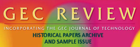 Index of Historical Papers from the former GEC Review